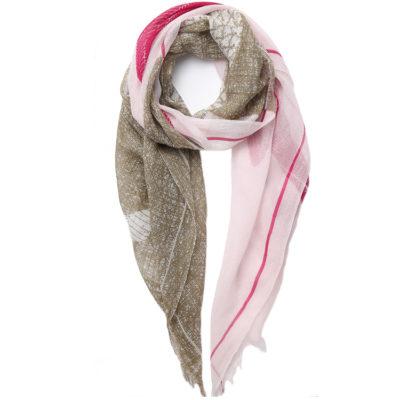 Inouitoosh-kisu-scarf-in-rose-and-kkaki-loopJPG