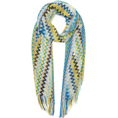 Missoni-classic-scarf-in-blues-and-yellows-loop