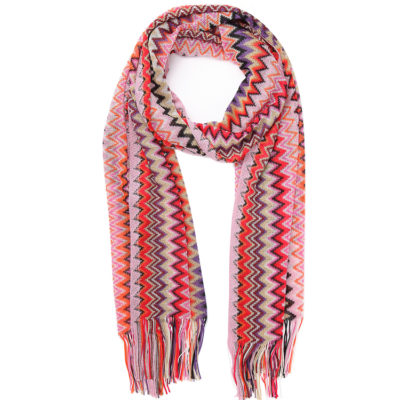 Missoni-classic-scarf-in-pink-and-gold-loop
