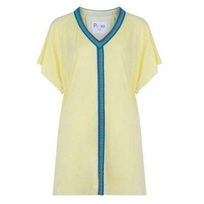 Pitusa-mini-abaya-in-lemon-sorbet-cutout