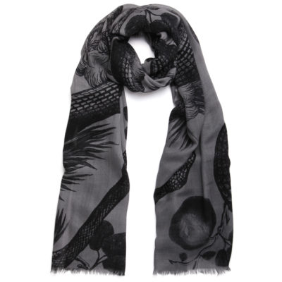 Friendy-hunting-garden-of-eden-cashmere-scarf-grey-and-black-loop