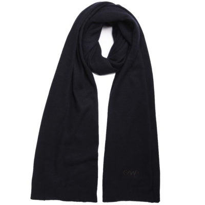 Navy-classic-cashmere-scarf-with-CW-self-logo-loop