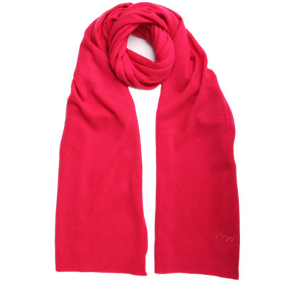 Pink-classic-cashmere-scarf-with-CW-self-logo-loop