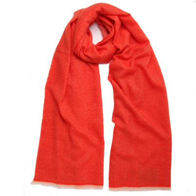 Beshlie-herringbone-cashmere-scarf-orange-750-loop