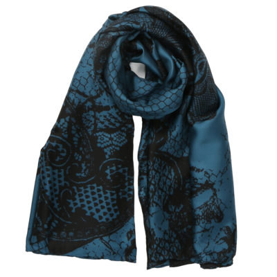 Bella-ballou-teal-silk-scarf-with-lace-loop