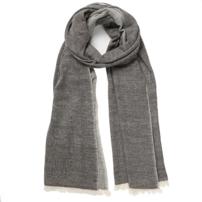 Beshlie-cashmere-herringbone-scarf-grey-loop