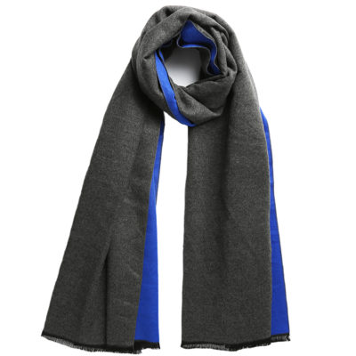 Blue-and-charcoal-grey-commuter-express-scarf-loop