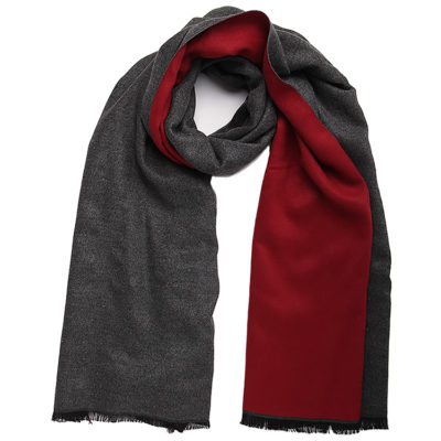 Burgundy-and-charcoal-grey-commuter-express-scarf-loop