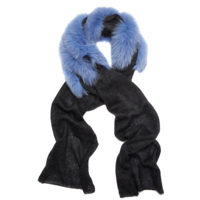 Charlotte-simone-fur-charcoal-and-blue-scarf-ziggy-loop1