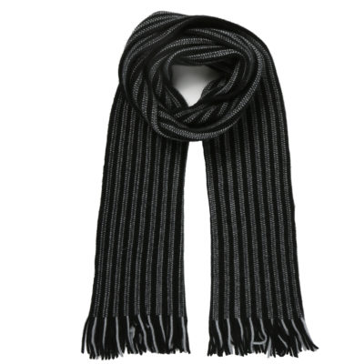 Cleverlywrapped-black-and-ivory-wool-scarf-loop