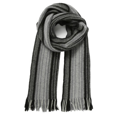 Cleverlywrapped-charcoal-and-black-wool-scarf-loop