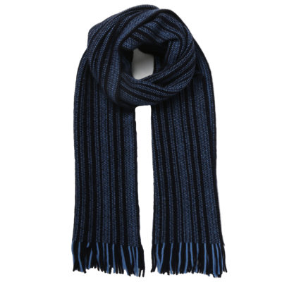 Cleverlywrapped-navy-and-black-wool-scarf-loop