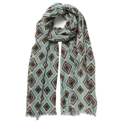 Duet-woollen-emroidered-scarf-blue-green-loop