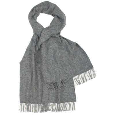 Glen-Prince-classic-heathered-grey-lambswool-scarf