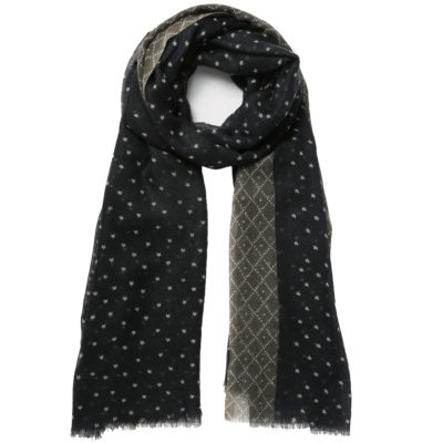 Hellen-van-berkel-navy-and-grey-wool-scarf-loop