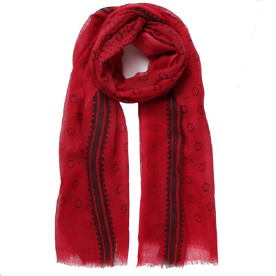 Hellen-van-berkel-red-wool-scarf-loop