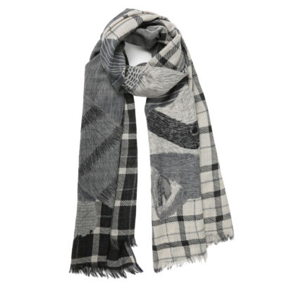 Inouitoosh-unique-printed-wool-scarf-grey-willy-loop