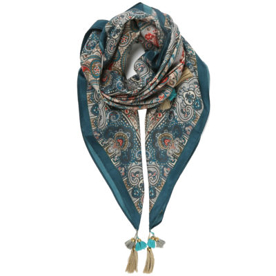 Vismaya-blue-silk-scarf-with-tassels-loop