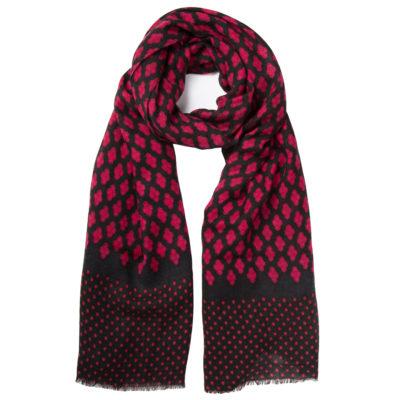 cleverlywrapped-fucshia-bindi-print-scarf-loop