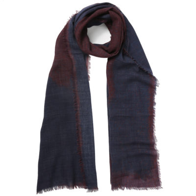 Jo-Edwards-navy-and-burgundy-wool-scarf-loop