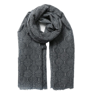 Jo-Edwards-navy-and-grey-wool-scarf-loop