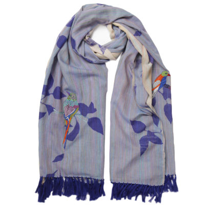amet-and-ladoue-embroidered-blue-bird-scarf-loop