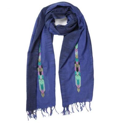 amet-and-ladoue-indigo-aztec-detail-scarf-loop