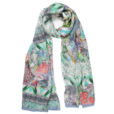 amet-and-ladoue-multi-coloured-blue-trimmed-silk-scarf-loop