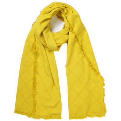 nice-things-geometric-yellow-jacquard-scarf-loop
