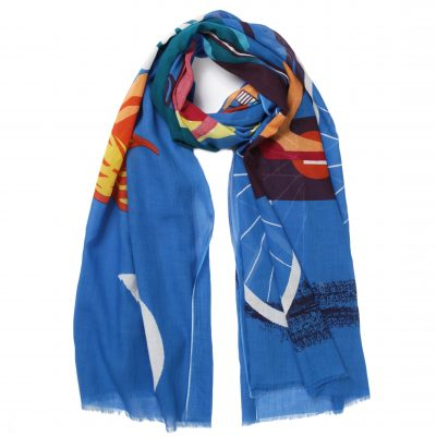 pivoine-blue-eiffel-cotton-scarf-loop