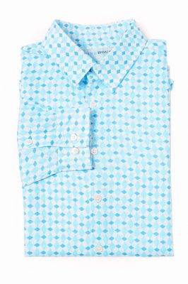 mens shirt - marrakesh - blue - flat