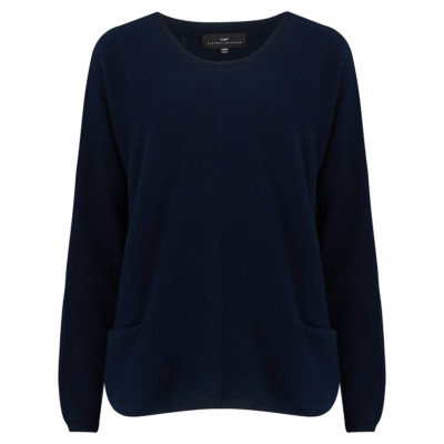 Cleverly-wrapped-cashmere-round-neck-jumper-navy-front_1