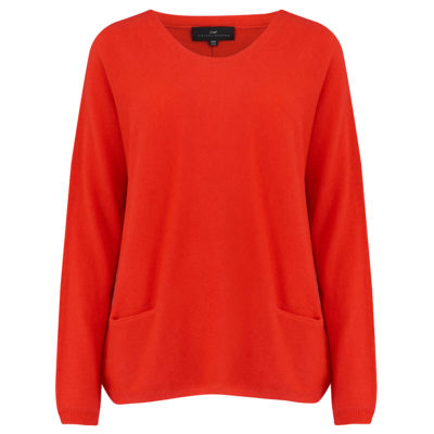 Cleverly-wrapped-cashmere-round-neck-jumper-tomato-red-front_1