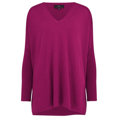 Cleverly-wrapped-cashmere-v-neck-poncho-cerise-front_1