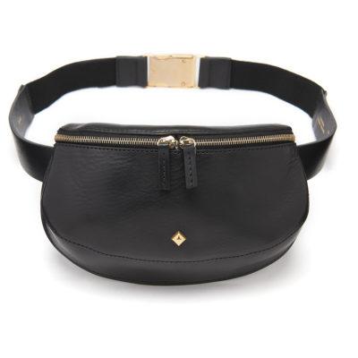 Herbert-Frère-soeur-black-leather-bum-bag-2