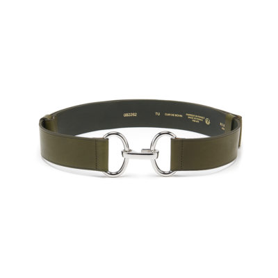 Herbert-Frère-soeur-khaki-leather-belt-1