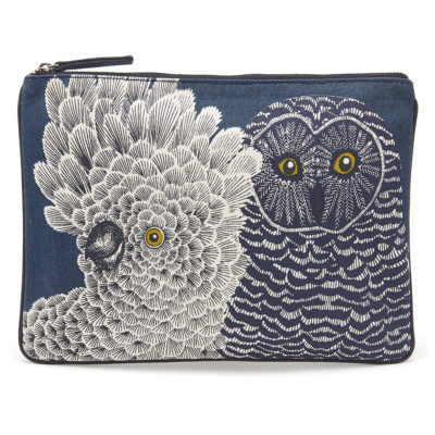 Inouitoosh-navy-owl-clutch-1