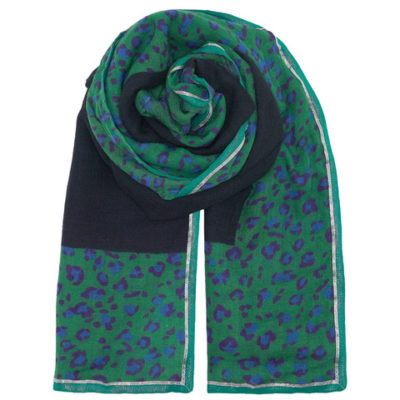 Universe-of-us-Leopard_Solid_Scarf_Navy_flat