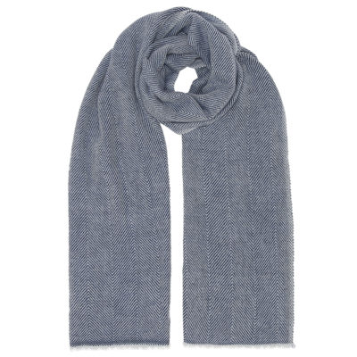 cleverly-wrapped-herringbone-wool-scarf-navy-loop