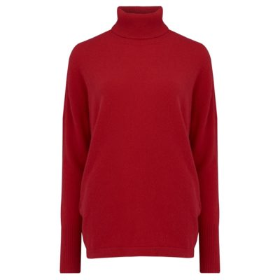 red cashmere polo