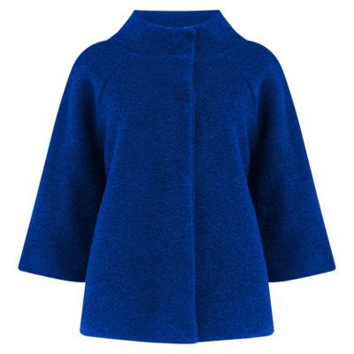 cobalt blue boiled wool jacket