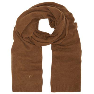 men's caramel classic cashmere scarf