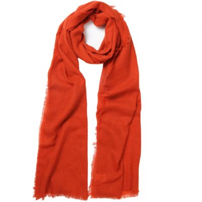 men's orange cashmere scarf