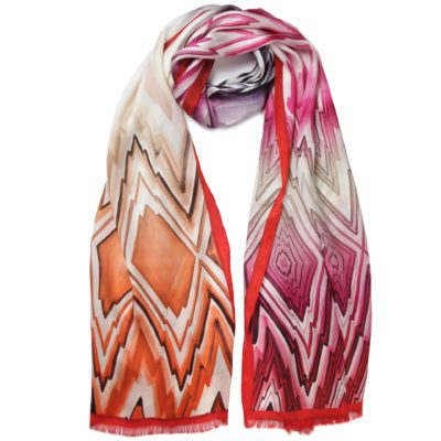 pink Missoni silk scarf