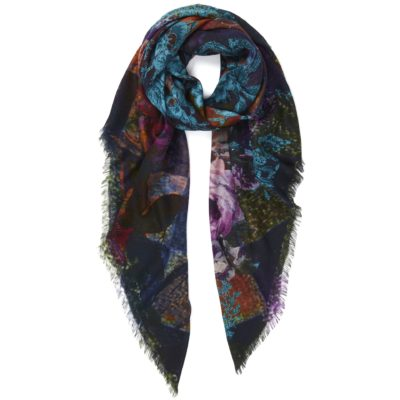 large square scarf in kingfisher – Harlequin