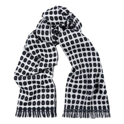men's black woven wool scarf