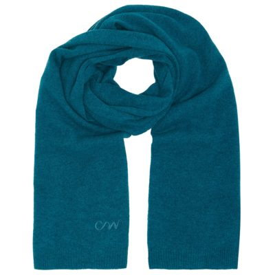 men's teal classic cashmere scarf