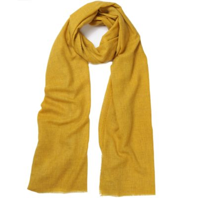 men's ochre cashmere scarf