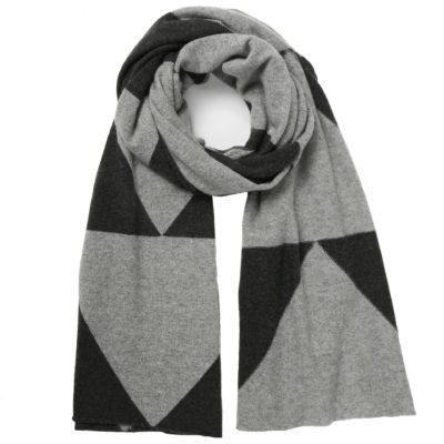 grey cashmere chevron scarf – Eddie
