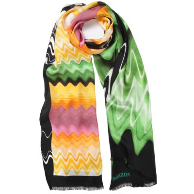 waved Missoni silk scarf
